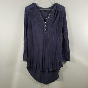Lucky Brand Long Sleeve High Low Blouse